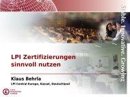 LPI Zertifizierungen sinnvoll nutzen  - LPI Central Europe