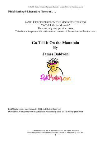 go tell it on the mountain satb pdf