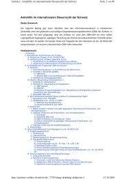 Amtshilfe im internationalen Steuerrecht der Schweiz ... - Homburger