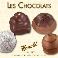 LES CHOCOLATS - Honold, La Confiserie