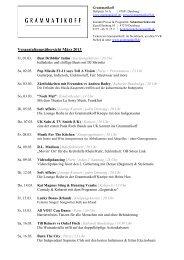 Monatsübersicht März 2013 - Grammatikoff