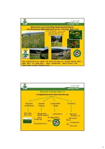 Naturschutz und nachhaltige Regionalentwicklung - Deutscher ...