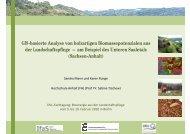 GIS-basierte Analyse von holzartigen Biomassepotenzialen aus GIS ...