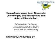 (Nürnberger) Eingriffsregelung zum Ackerwildkrautschutz