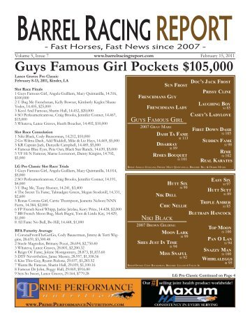 Guys Famous Girl Pockets $105,000 - Barrel Racing Report