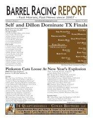 Self and Dillon Dominate TX Finals - Barrel Racing Report
