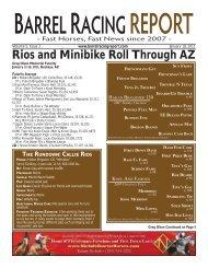 Rios and Minibike Roll Through AZ - Barrel Racing Report