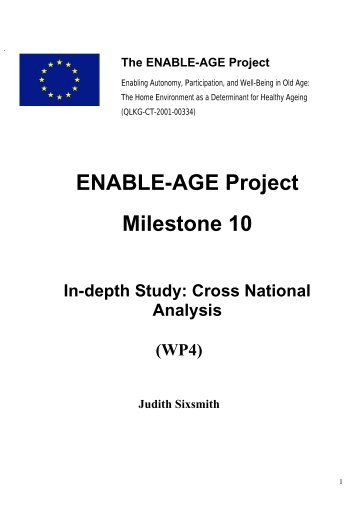 ENABLE-AGE Project Milestone 10