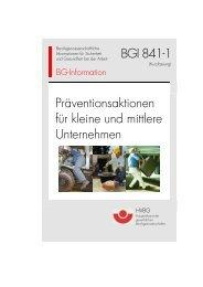 BGI 841 - Deutsche Gesetzliche Unfallversicherung
