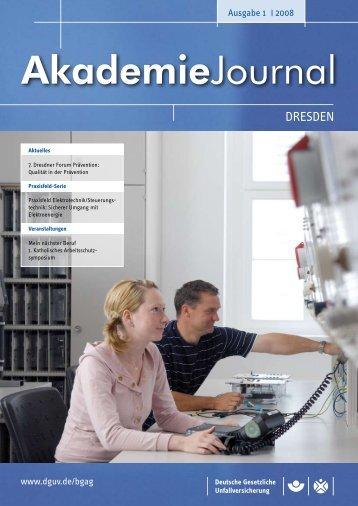 Ausgabe 1/2008 als PDF - Deutsche Gesetzliche Unfallversicherung