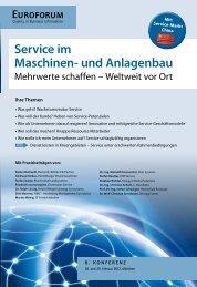 Service im Maschinen- und Anlagenbau - Burkardt, Peters & Partner