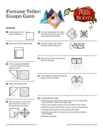 Instructions Set For Paper Games Fortune Teller And Paper Football
