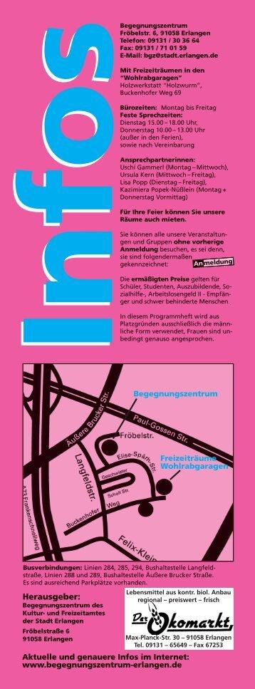 Programm als PDF-Datei - Begegnungszentrum-Erlangen