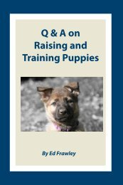 Q & A on Raising and Training Puppies - Leerburg Enterprise, Inc.