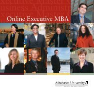 Executive MBA brochure - Athabasca University