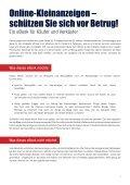 Online-Kleinanzeigen – schützen Sie sich vor Betrug! - Seite 2