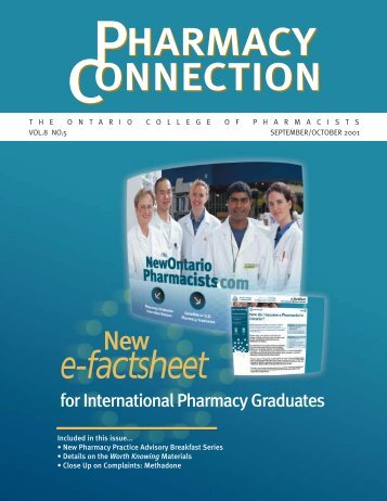e-factsheet - Ontario College of Pharmacists