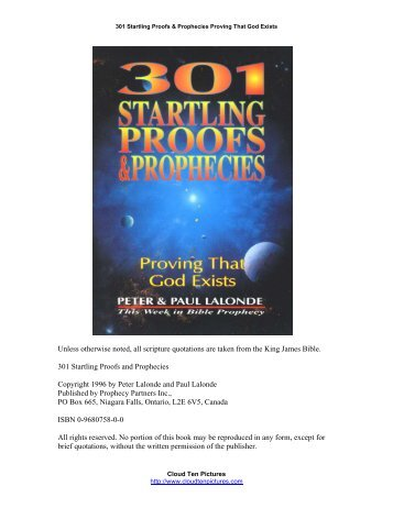 301 Startling Proofs & Prophecies that God Exists - PinPoint ...