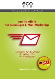 adRom Holding AG empfiehlt die E-Mail Marketing Richtlinien von ECO