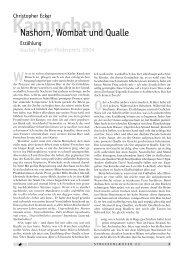 Kaninchen, Nashorn, Wombat und Qualle. Erzählung - PoCul-Verlag