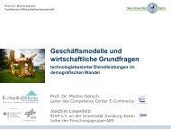 Auswertung der E-Health@Home - Rhein-Ruhr-Institut für ...