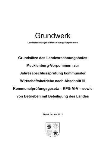 Grundwerk, Stand 14. Mai 2012 - Landesrechnungshof ...
