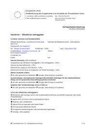 Auftragsbekanntmachung - Schwarzwald-Baar-Kreis
