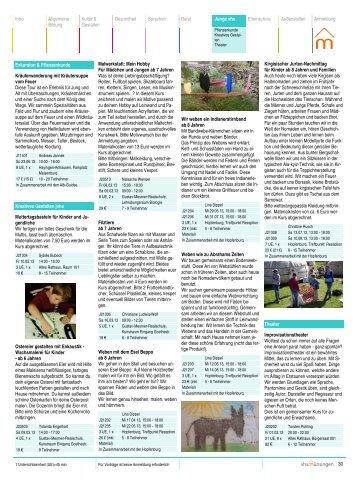 30 Intro Allgemeine Bildung Kultur & Gestalten Gesundheit ...