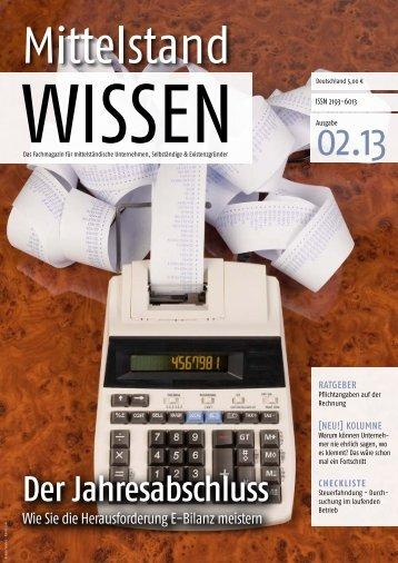 Jahresabschluss-E-Bilanz - Mittelstand WISSEN - Unternehmer.de
