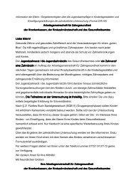 Arbeitsgemeinschaft für Zahngesundheit Arbeitsgemeinschaft für ...