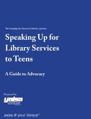 Speaking Up for Library Services to Teens - American Library ...