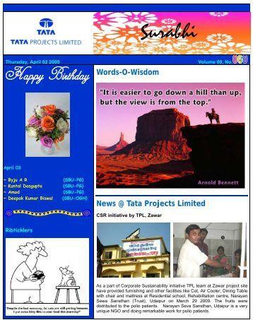 Words-O-Wisdom News @ Tata Projects Limited