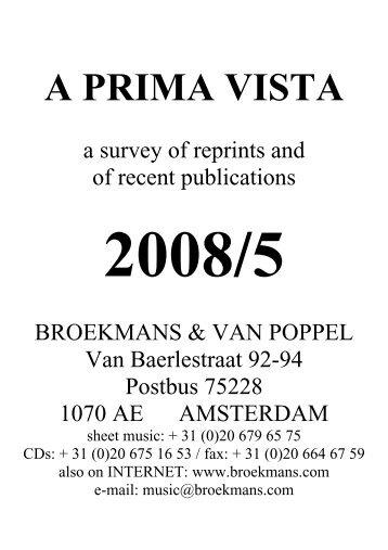 A PRIMA VISTA - Broekmans & Van Poppel