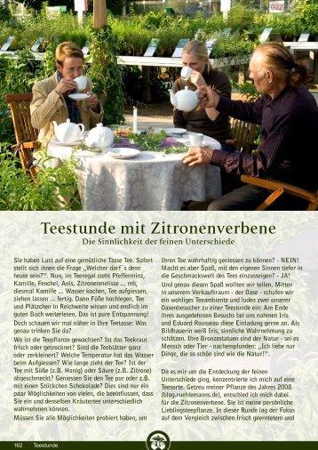 Teestunde mit Zitronenverbene - Rühlemann's Kräuter & Duftpflanzen