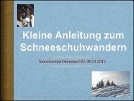 Kleine Anleitung zum Schneeschuhwandern - Alpinschule OASE ...