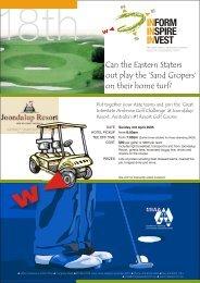 MEA Golf Day Brochure - Meetings & Events Australia