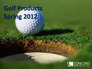 Golf Products Spring 2012