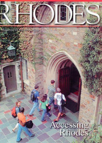 Rhodes Magazine - Fall 2003 - DLynx at Rhodes College