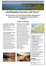 """""""Inselhopping Guernsey und Jersey"""" - Neckermann Reisebüro"""