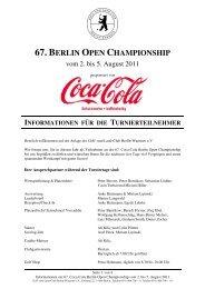 67 Berlin Open Info - Der Golf- und Land-Club Berlin-Wannsee eV