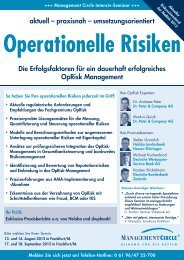 Operationelle Risiken - Dr. Peter & Company AG
