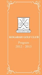 view or download - Kogarah Golf Club