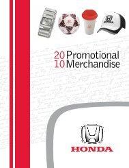 20 10 Promotional Merchandise - Honda Canada