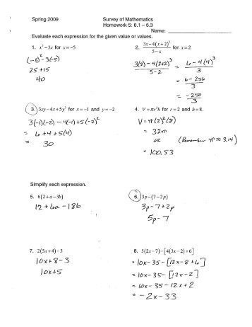Homework 5: 6.1-6.3 Solutions