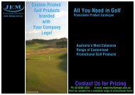 JEM Promotional Products - Corporate Golf Products
