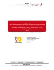 Redalyc. Testing the effectiveness of an entertainment-education ...