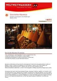 Glanzlichter Marokkos - Weltweitwandern