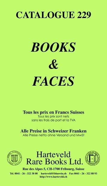 les prix en Francs Suisses - Harteveld Rare Books Ltd.