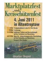 Marktplatz- und Kreisschützenfest am 04. Juni 2011 auf der ...