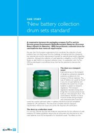 New battery collection drum sets standard A cooperation - CurTec